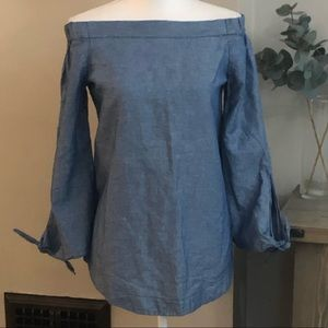 Free People chambray blouse
